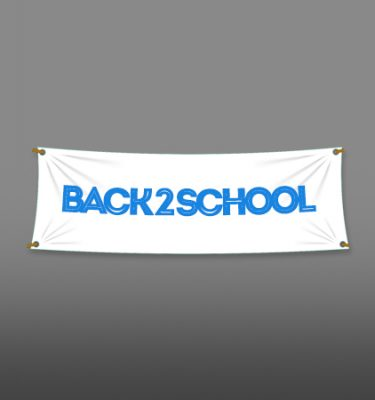 2 X 12 Single Color Vinyl Banner Text Only